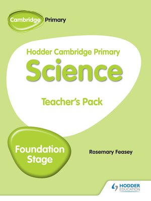 cover image of Hodder Cambridge Primary Science Teacher's Pack Foundation Stage