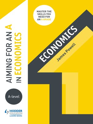 cover image of Aiming for an A in A-level Economics