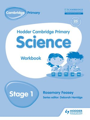 cover image of Hodder Cambridge Primary Science Workbook 1