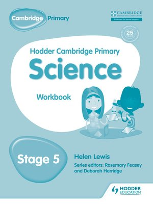 cover image of Hodder Cambridge Primary Science Workbook 5
