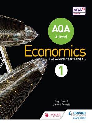 cover image of AQA A-level Economics Book 1