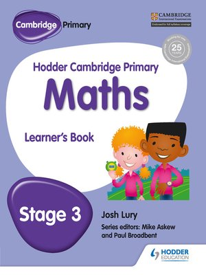 cover image of Hodder Cambridge Primary Maths Learner's Book 3