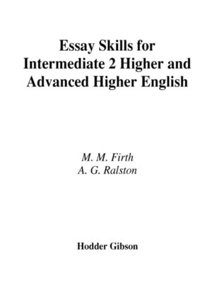 english essay skills for intermediate  higher and advanced by mary  english essay skills for intermediate  higher and advanced