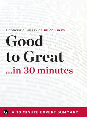 cover image of Summary: Good to Great ...in 30 Minutes