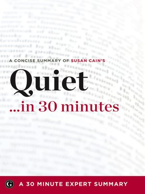 cover image of Quiet …in 30 Minutes