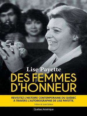 cover image of Des femmes d'honneur
