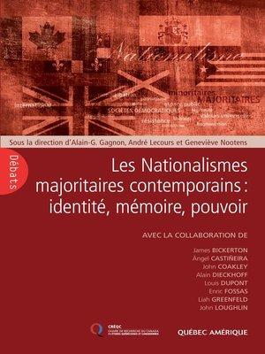 cover image of Les Nationalismes majoritaires contemporains