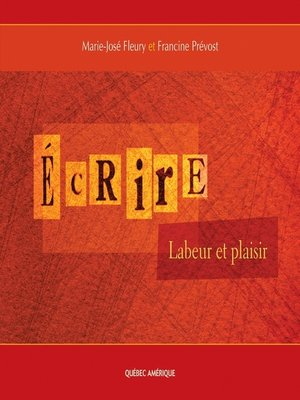 cover image of Écrire