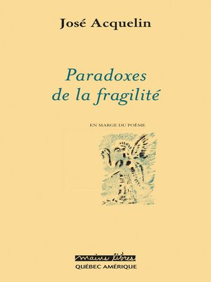 cover image of Paradoxes de la fragilité