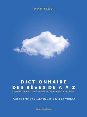 cover image of Dictionnaire des rêves de a à Z
