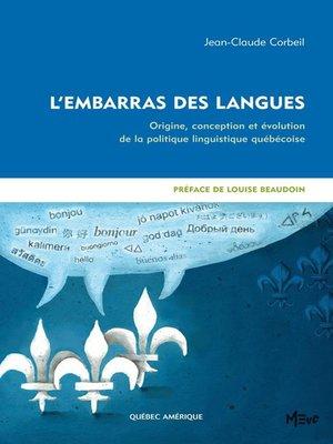 cover image of L'Embarras des langues