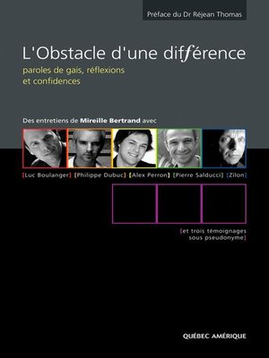 cover image of L'Obstacle d'une différence