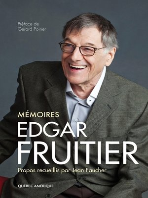 cover image of Edgar Fruitier--Mémoires