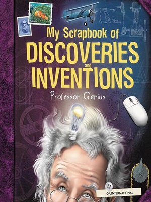 cover image of My Scrapbook of Discoveries and Inventions (by Professor Genius)