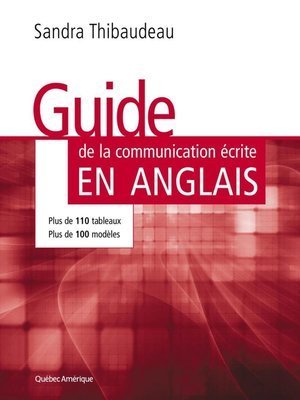 cover image of Guide de la communication écrite en anglais