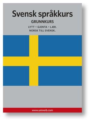cover image of Svensk språkkurs