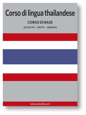 cover image of Corso di lingua thailandese