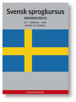cover image of Svensk sprogkursus