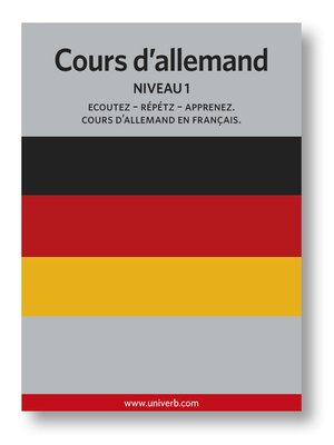 cover image of Cours d'allemand