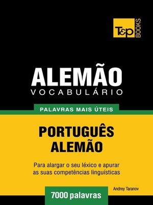 cover image of Vocabulário Português-Alemão