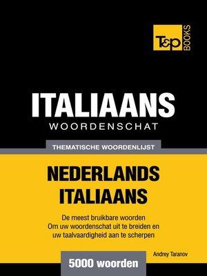 cover image of Thematische woordenschat Nederlands-Italiaans
