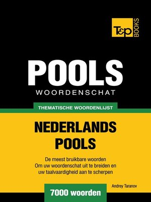 cover image of Thematische woordenschat Nederlands-Pools