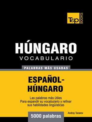 cover image of Vocabulario Español-Húngaro