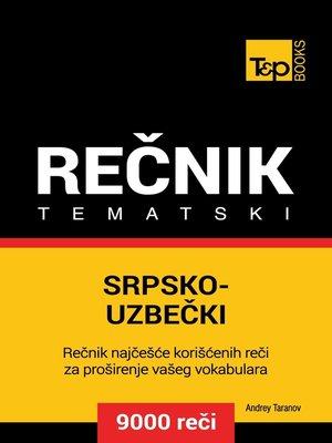 cover image of Srpsko-Uzbečki tematski rečnik