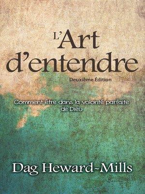 cover image of L'art d'entendre