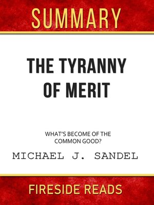 cover image of Summary of the Tyranny of Merit