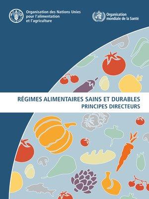 cover image of Régimes alimentaires sains et durables