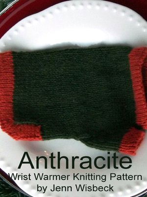 cover image of Anthracite Wrist Warmers Knitting Pattern