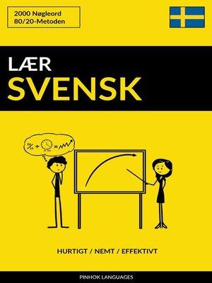 cover image of Lær Svensk