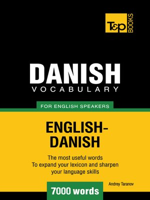 cover image of Danish Vocabulary for English Speakers