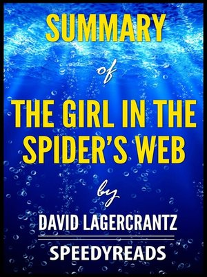 cover image of Summary of the Girl in the Spider's Web by David Lagercrantz