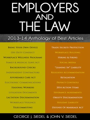 cover image of Employers and the Law