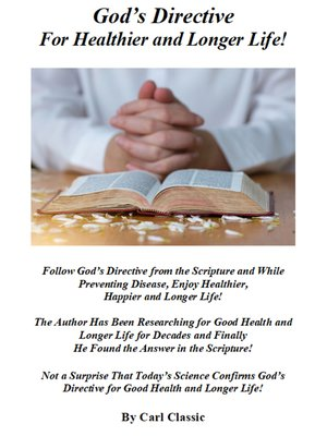 cover image of God's Directive For Healthier and Longer Life!