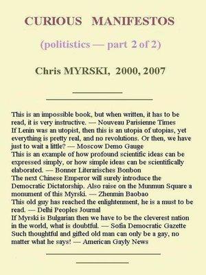 cover image of Curious Manifestos (Politistics) — Part Two