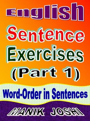 cover image of English Sentence Exercises