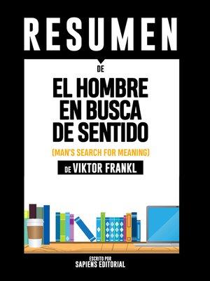 cover image of El Hombre en Busca de Sentido (Man's Search for Meaning)