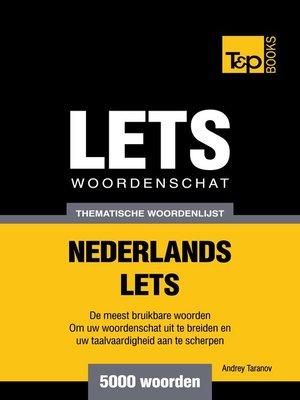 cover image of Thematische woordenschat Nederlands-Lets