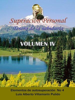 cover image of Superación Personal Tesoro de la Sabiduría Volumen IV