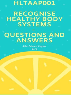 cover image of Hltaap001 Recognise Healthy Body Systems