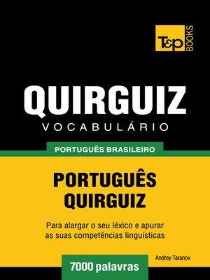 cover image of Vocabulário Português Brasileiro-Quirguiz