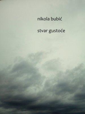 cover image of Stvar gustoće