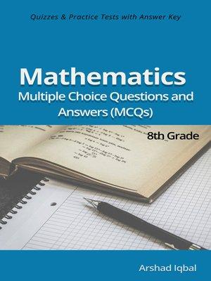 cover image of 8th Grade Math MCQs