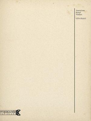cover image of Anarşizme Kenar Notları
