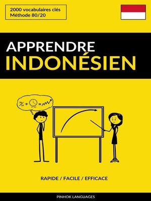 cover image of Apprendre l'indonésien
