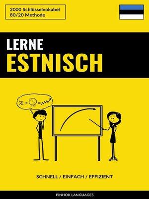 cover image of Lerne Estnisch