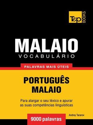 cover image of Vocabulário Português-Malaio
